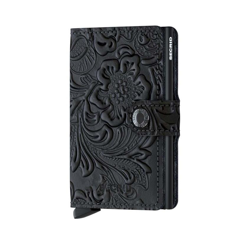 Secrid Kortholder Mini wallet Sort/med blomster 1