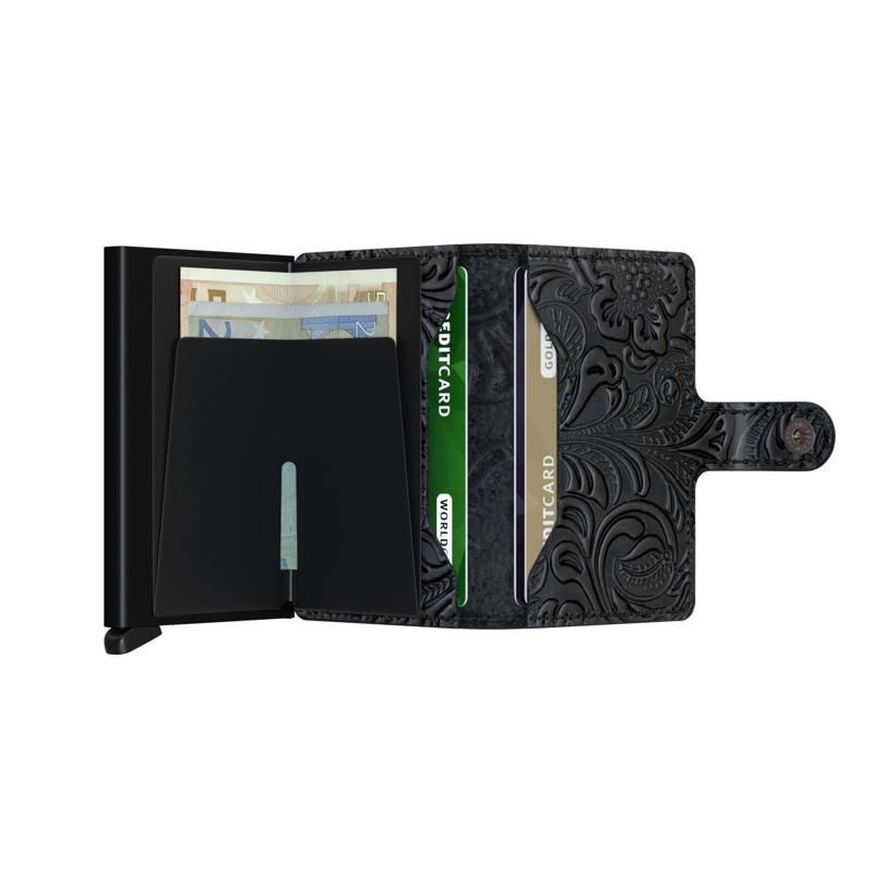 Secrid Kortholder Mini wallet Sort/med blomster 4