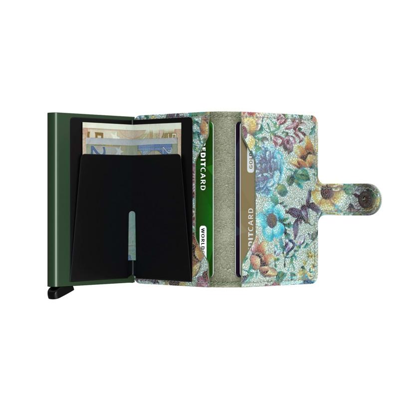 Secrid Kortholder Mini wallet Grøn mønster 4