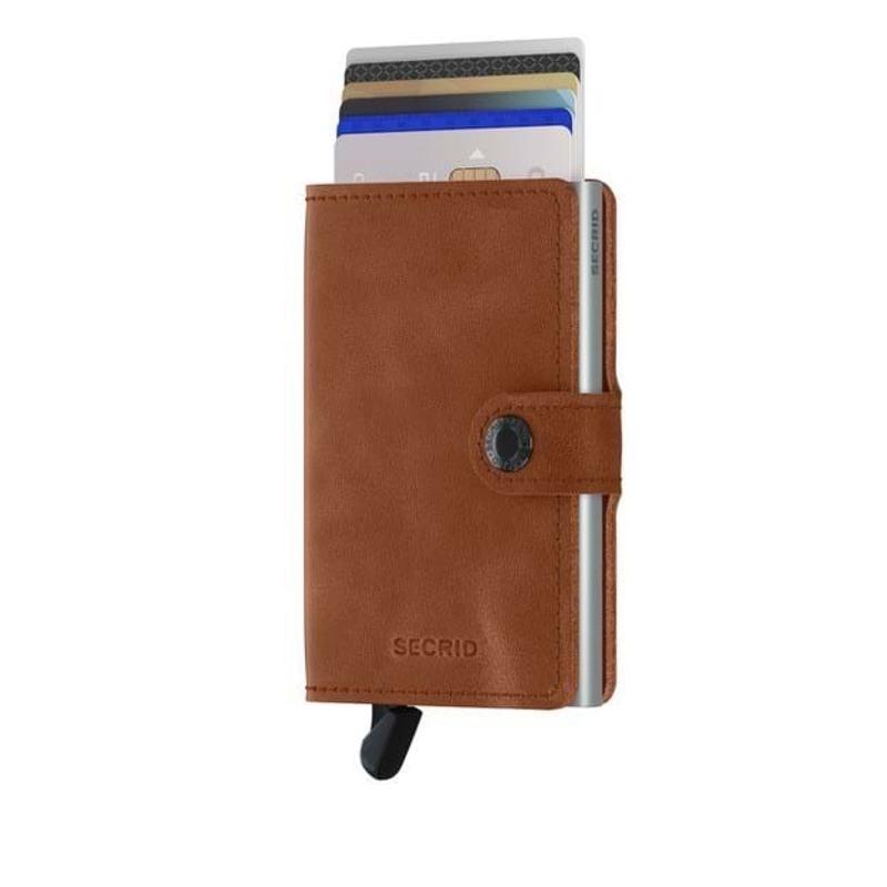Secrid Kortholder Mini wallet Cognac/sølv 1