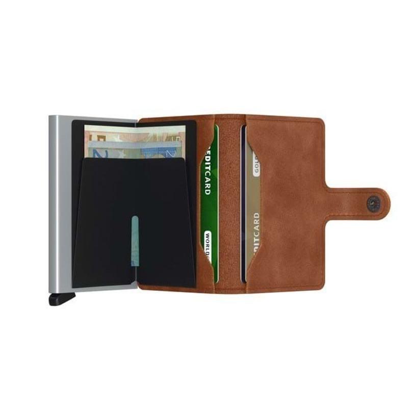Secrid Kortholder Mini wallet Cognac/sølv 2