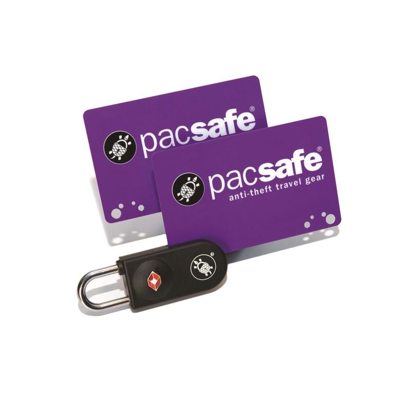 Pacsafe TSA lås med keycard Sort 1