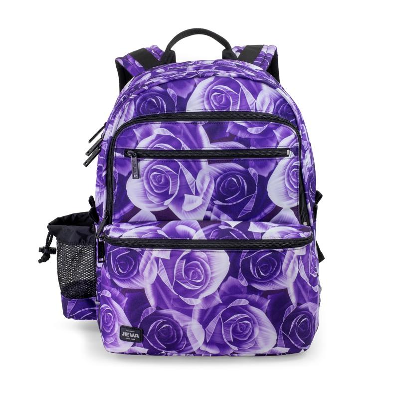 JEVA Rygsæk Square Purple Rose Lilla blomst 1