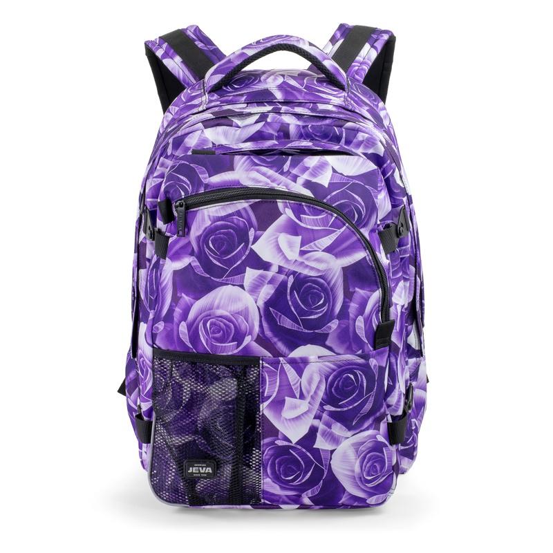 JEVA Rygsæk Supreme Purple Rose Lilla blomst 1