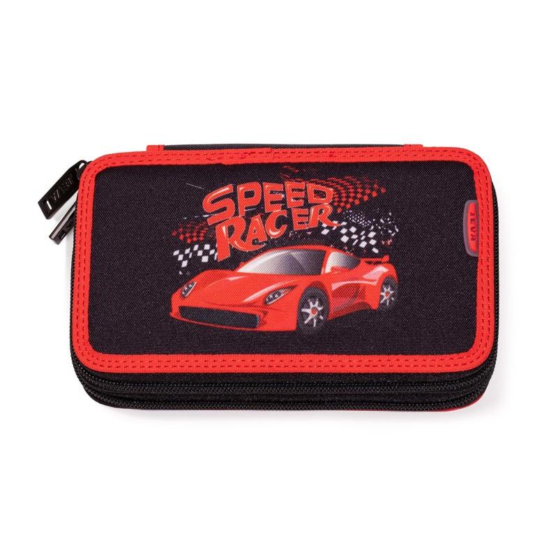 JEVA Penalhus Two Zip Speed Racer Rød/sort 1