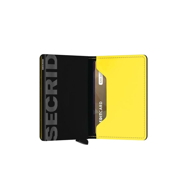 Secrid Slimwallet Sort/Gul 4
