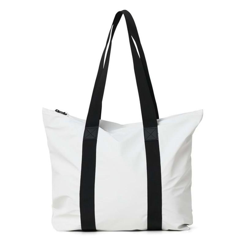 Rains Shopper Tote Bag Rush Off Hvid 1