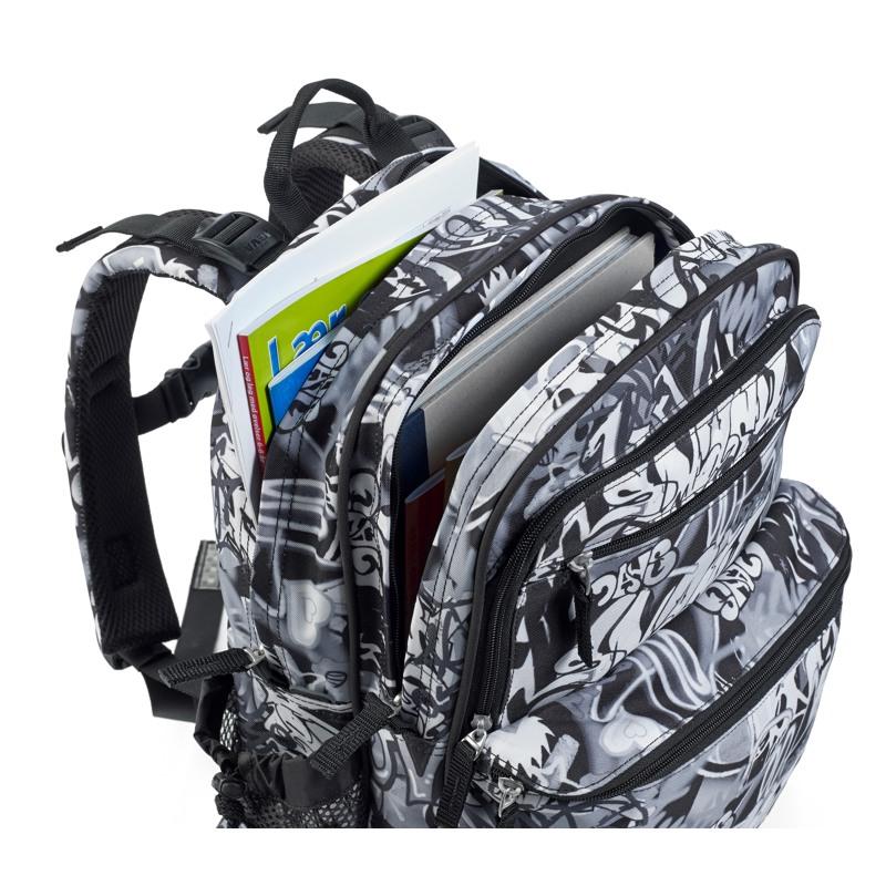 JEVA Rygsæk Backpack'it Sort/Hvid 2