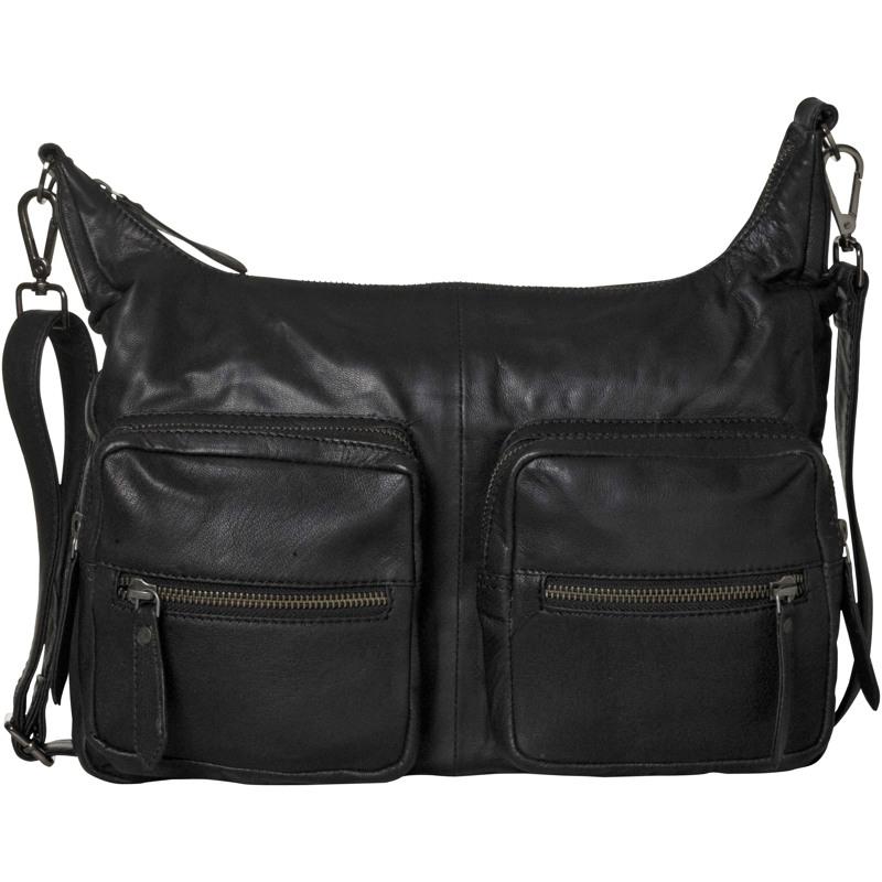 Aura Håndtaske, m. 2 lyn, lommer på Sort 1