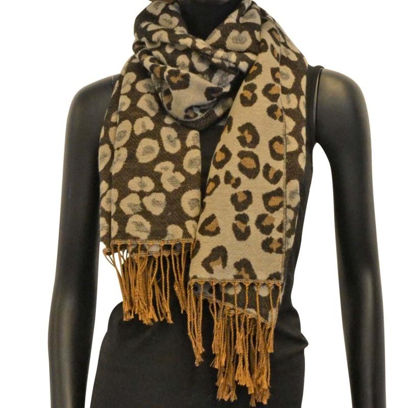 Tørklæde, Soft animal jaquard Mønstret 1
