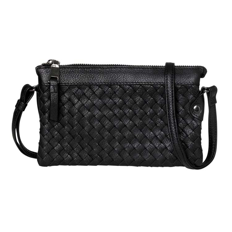 Aura Clutch med flet Sort 1