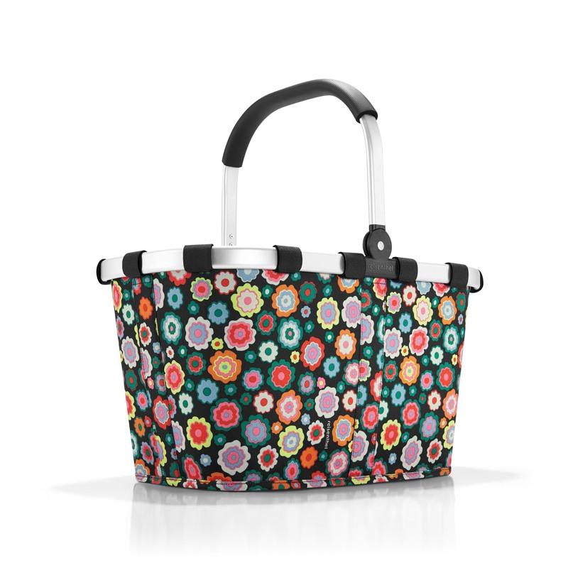 Reisenthel Indkøbskurv Carrybag Sort/med blomster 1