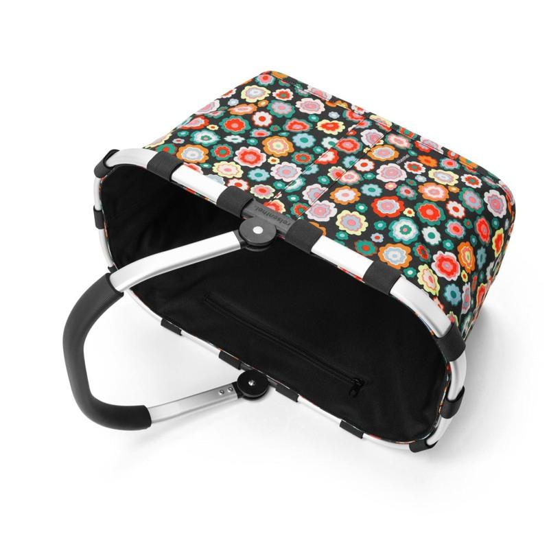 Reisenthel Indkøbskurv Carrybag Sort/med blomster 4