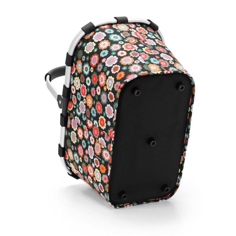 Reisenthel Indkøbskurv Carrybag Sort/med blomster 5