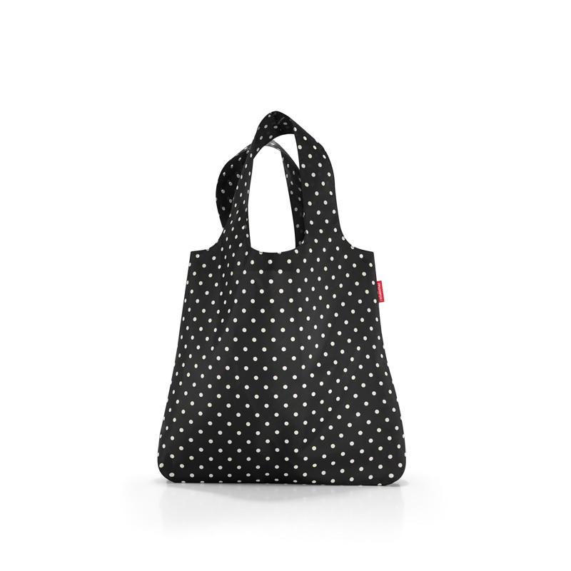 Reisenthel Shopper Mini Maxi Sort M. Hvide prikker 1