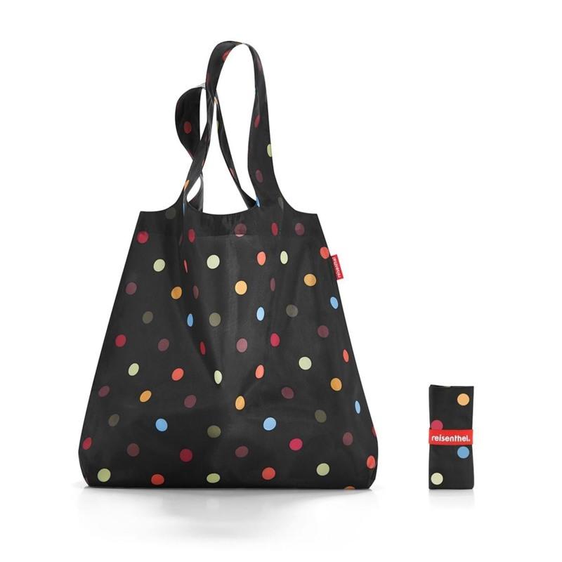 Reisenthel Shopper Mini Maxi Sort/prikker 1