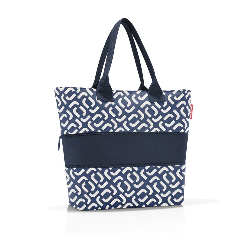 Reisenthel Shopper E1 Blå/hvid 2