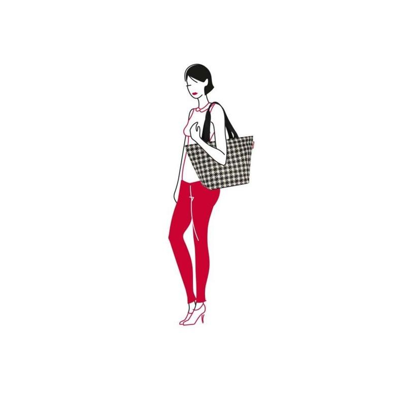 Reisenthel Shopper M Sort/Hvid 2