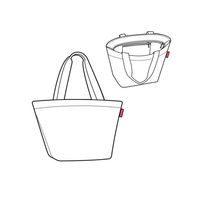 Reisenthel Shopper M Sort/Hvid 3