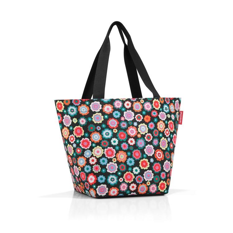 Reisenthel Shopper M Sort/med blomster 1