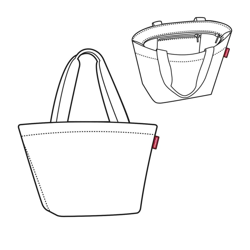 Reisenthel Shopper M Sort/prikker 4