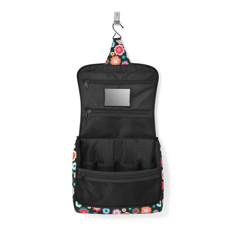 Reisenthel Toilettaske Toiletbag XL Sort/med blomster 2