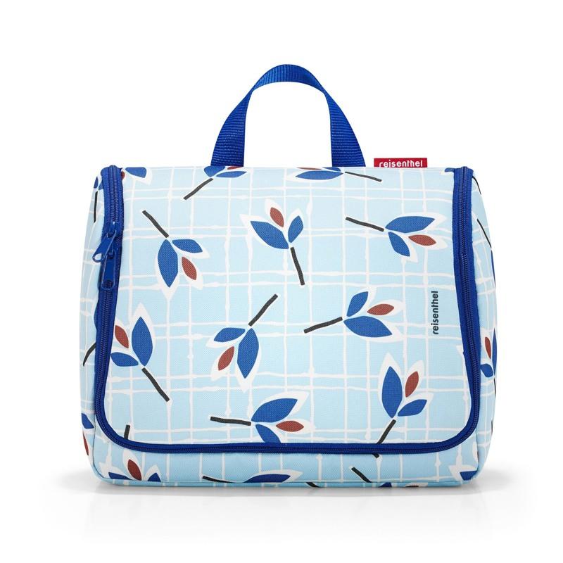 Reisenthel Toilettaske Toiletbag XL Blå m/blomst 1