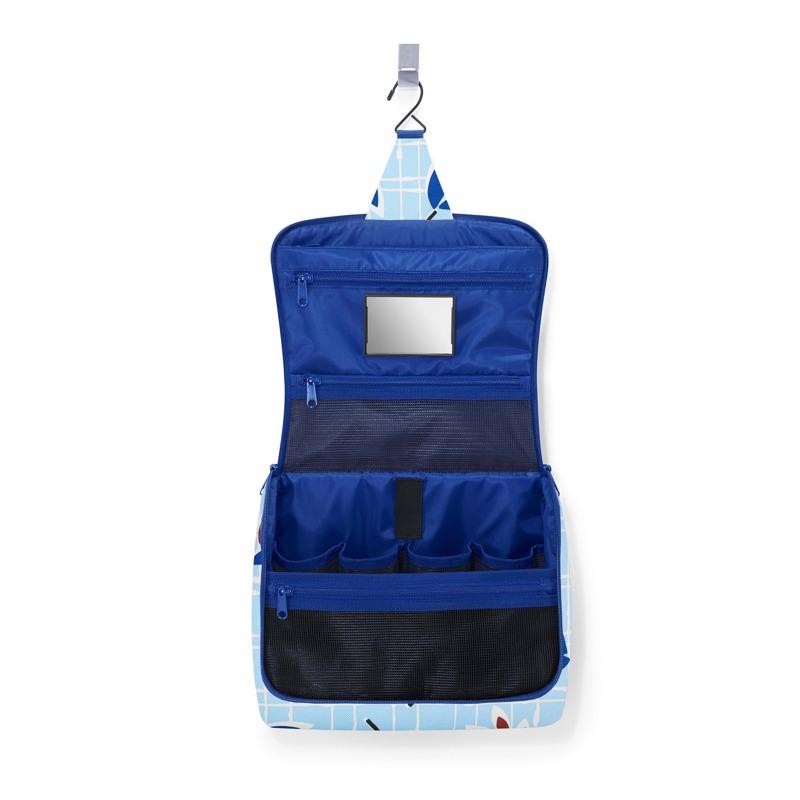 Reisenthel Toilettaske Toiletbag XL Blå m/blomst 2