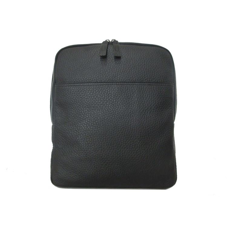 GGF Stor rygsæk i italiensk skind Sort 1