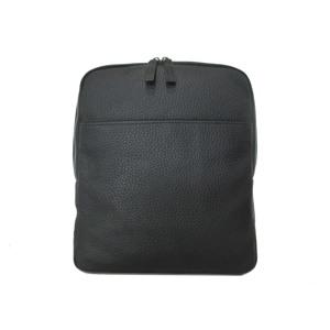 GGF Stor rygsæk i italiensk skind Sort