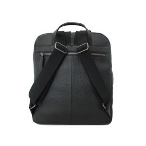 GGF Stor rygsæk i italiensk skind Sort alt image
