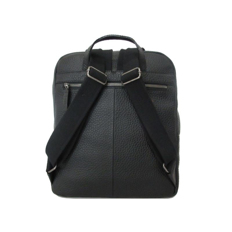 GGF Stor rygsæk i italiensk skind Sort 2