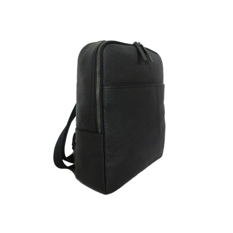 GGF Stor rygsæk i italiensk skind Sort 3