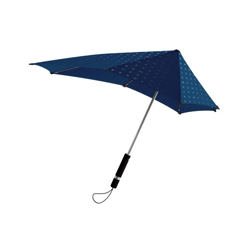 Stormparaply-Lang Sort/Hvid 1