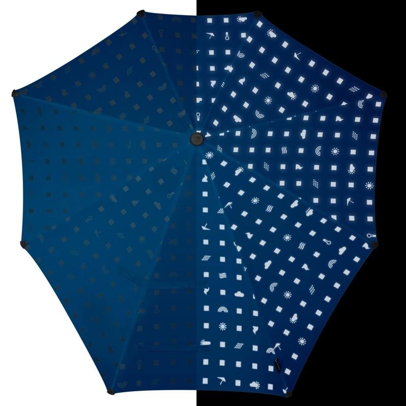Stormparaply-Lang Sort/Hvid 2