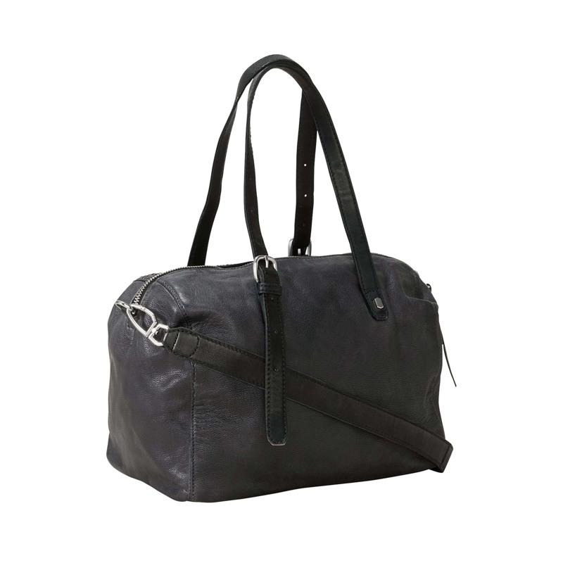 Håndtaske - Handcut Python Sort 2