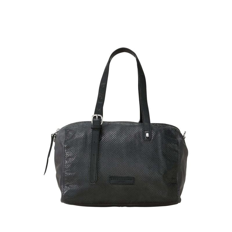 Håndtaske - Handcut Python Sort 3