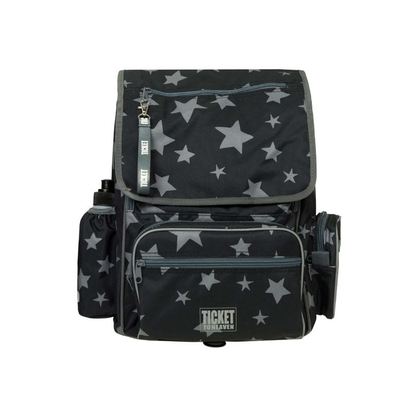 Skoletaske-Backpack jun. Boy Sort mønster 1