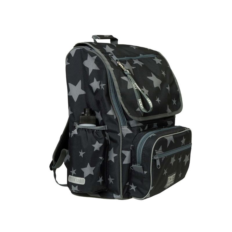 Skoletaske-Backpack jun. Boy Sort mønster 2