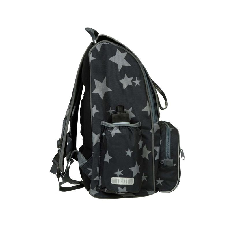 Skoletaske-Backpack jun. Boy Sort mønster 3