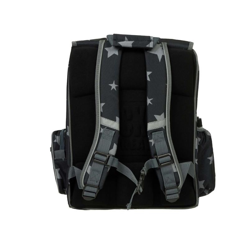 Skoletaske-Backpack jun. Boy Sort mønster 4