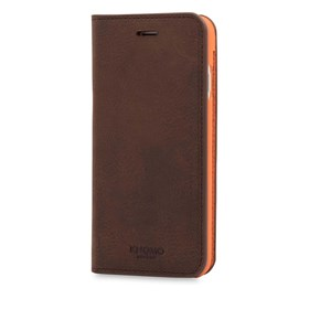 Knomo Mobilcover Leather iPhone 6/6S/7/8/SE Brun