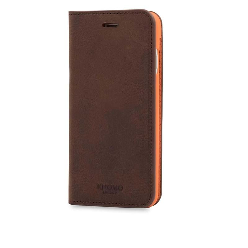 Knomo Mobilcover Leather Brun 1