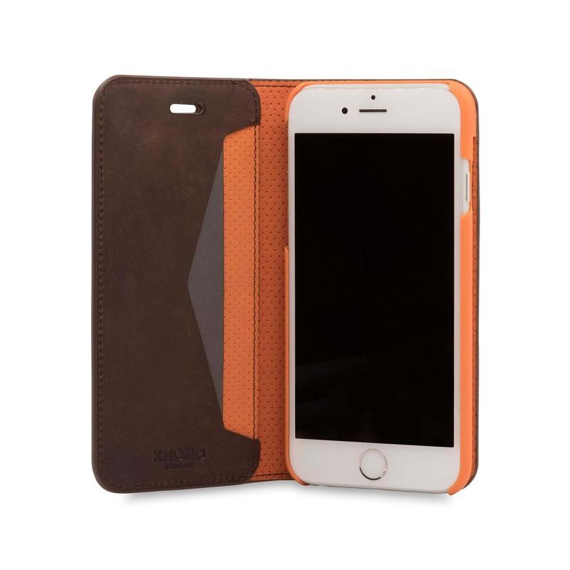 Knomo Mobilcover Leather Brun 3