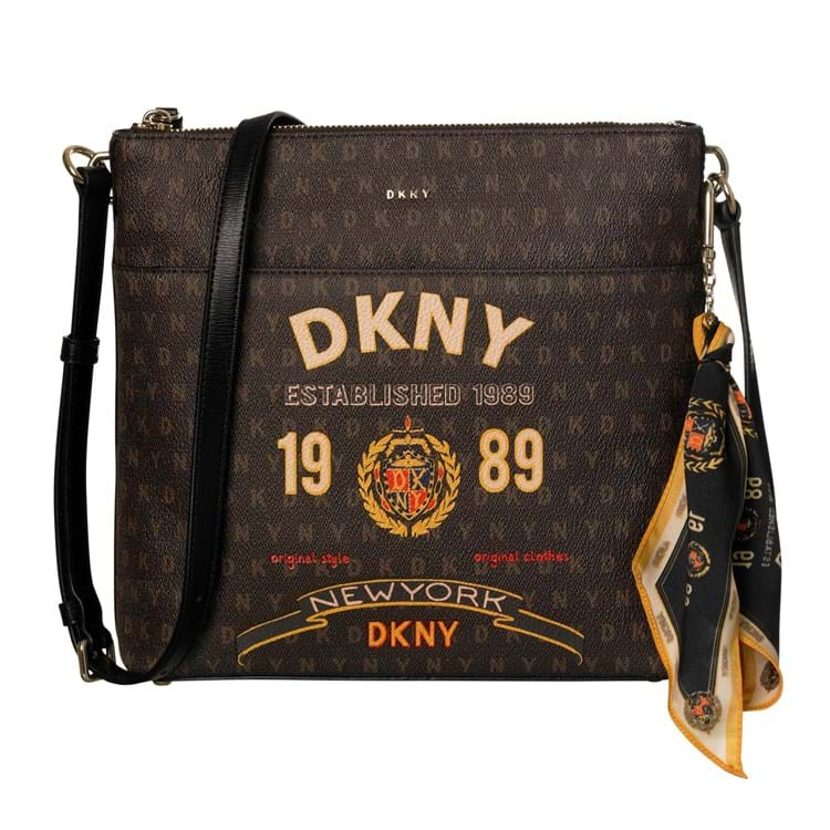 DKNY Crossbody logo Brun 1