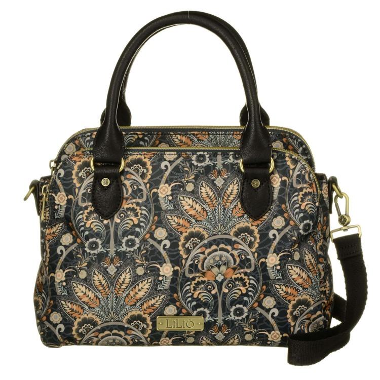 Lilió Taske-S-Handbag Brunt mønster 1