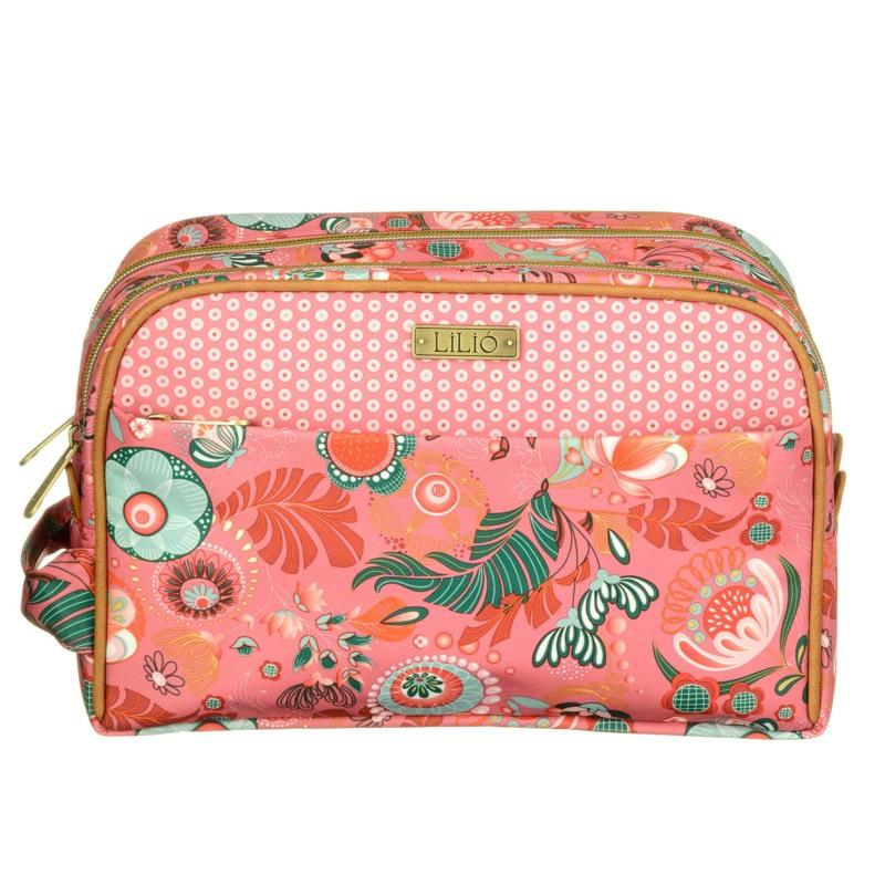 Lilió Kosmetik pung -pocket cosmetik Pink mønstret 1