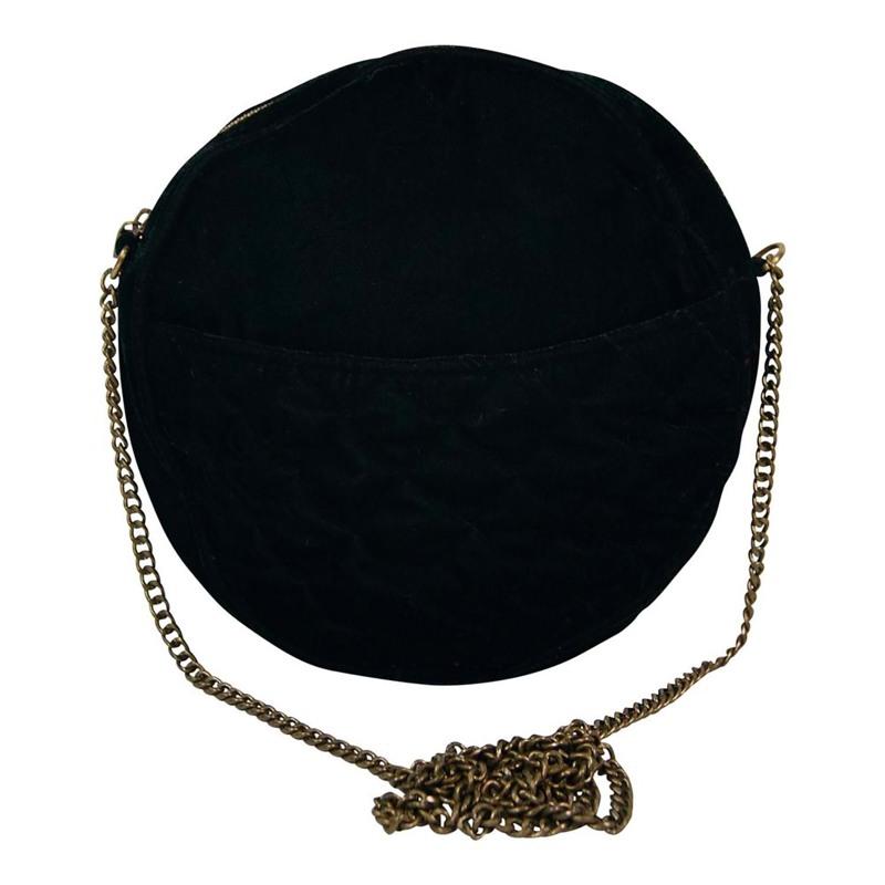 Taske Velvet round bag Sort 1