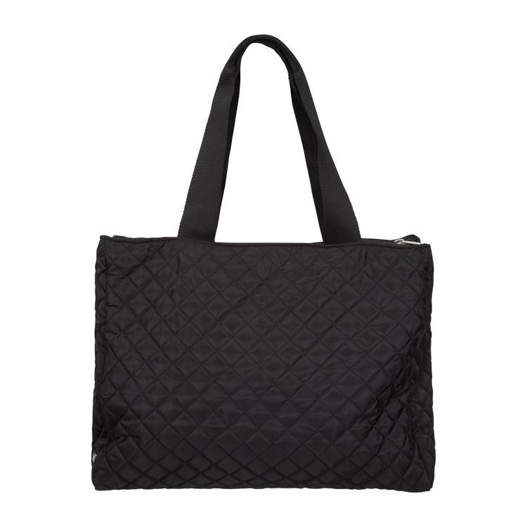 Indkøbstaske -Tote Bag Sort/sølv 2