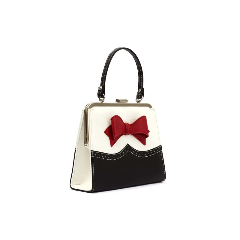Håndtaske  Creme/Sort 3